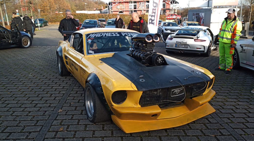 Børning 3 Mustang and Polizei Nürburgring car park