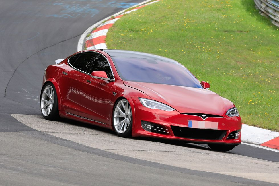 Tesla Plaid testing on the Nürburgring